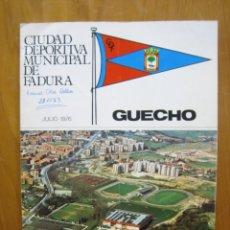 Catálogos publicitarios: CIUDAD DEPORTIVA DE FADURA DE GUECHO 1976. Lote 194898941