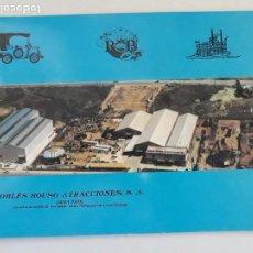 Catálogos publicitarios: ROBLES BOUSO ATRACCIONES S.A. (LUNA PARK). CONSTRUCTORES DE MATERIAL PARA PARQUES DE ATRACCIONES.. Lote 194902058