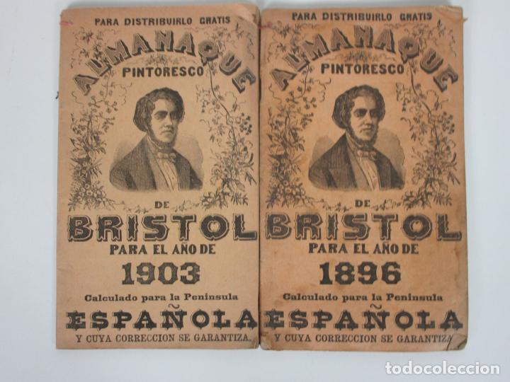 ALMANAQUE BRISTOL - CALENDARIO - PUBLICIDAD DE ÉPOCA - DROGUERÍA RAMÓN FINA, GRANOLLERS -1896 -1903 (Coleccionismo - Catálogos Publicitarios)