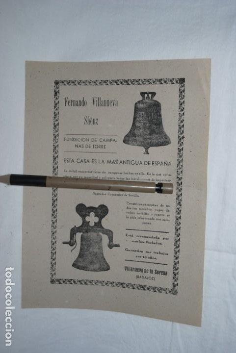 FUNDICION DE CAMPANAS DE TORRE , FERNANDO VILLANUEVA . (Coleccionismo - Catálogos Publicitarios)