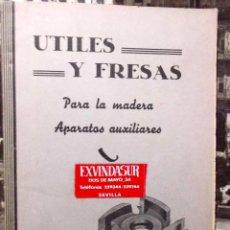Catálogos publicitarios: 1960 DECADA, CATALOGO LISTAS DE PRECIOS UTILES Y FRESAS PARA MADERA. Lote 194967287