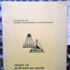 Catálogos publicitarios: 1960 DECADA, CATALOGO LISTAS DE PRECIOS EQUIPOS DE DOSIFICACIÓN POR PESADA. Lote 194967665