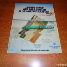 Catálogos publicitarios: PUBLICIDAD 1985: TARJETA DEL BANCO ATLÁNTICO. Lote 195059355