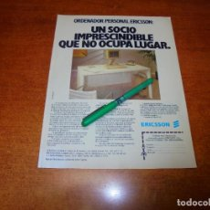 Catálogos publicitarios: PUBLICIDAD 1985: ORDENADOR PERSONAL ERICSSON. Lote 195059371