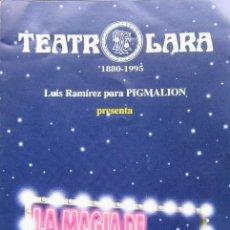 Catálogos publicitarios: LA MAGIA DE BROADWAY - PROGRAMA DE MANO - PABLO ABRAIRA, ETC.. Lote 195075963
