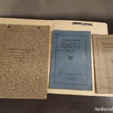 Catálogos publicitarios: INSTRUCCIONS FOR DE LA VERGE DIESEL ENGINES HORIZONTAL & VERTICAL TYPE LOTE 3 CATALOGOS CIRCA 1920.. Lote 195081176