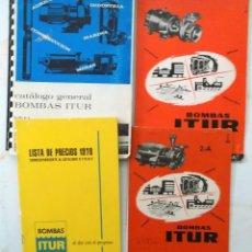 Catálogos publicitarios: LOTE DE CATALOGO LISTAS DE PRECIO DE BOMBAS ITUR AÑOS 60 - 70. Lote 195132197