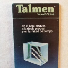 Catálogos publicitarios: ANTIGUA LIBRETA BLOC DE NOTAS MEDICAMENTO TALMEN TALAMPICILINA MEDICINA MEDICO SAN JUSTO DESVERN BCN. Lote 195135410