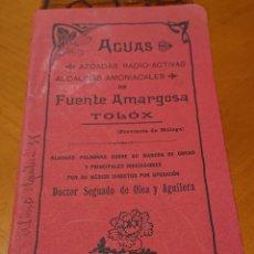 Catálogos publicitarios: MÁLAGA, BALNEARIO FUENTE AMARGOSA, TOLOX. MUY RARO.. Lote 195147726