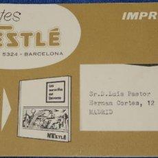 Catálogos publicitarios: PROMOCIÓN SORTEO DE NAVIDAD - LAS MARAVILLAS DEL UNIVERSO - NESTLÉ (1956). Lote 195154978