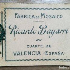 Catálogos publicitarios: CATÁLOGO FÁBRICA DE MOSAICO RICARDO BAYARRI. VALENCIA. Lote 195191983