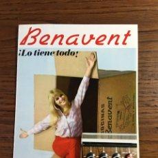 Catálogos publicitarios: FOLLETO CATÁLOGO COCINAS GAS Y BUTANO BENAVENT. Lote 195212466