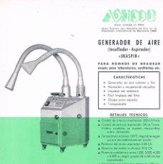 Catálogos publicitarios: FOLLETO PUBLICIDAD EXPOQUIMIA 78 BONALIS GENERADOR DE AIRE INAPIR J BONALS SA. Lote 195323433
