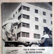 Catálogos publicitarios: CASA DE REPOSO Y SANATORIO DEL PERPETUO SOCORRO ALICANTE - HUECOGRABADO FOURNIER. Lote 195328553