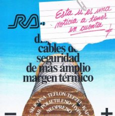 Catálogos publicitarios: FOLLETO PUBLICIDAD EXPOQUIMIA 78 RALOCAR CONDUCTORES AISLANTES. Lote 195333822