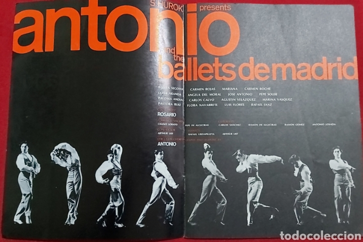 Catálogos publicitarios: SOL HUROK PRESENTS ANTONIO AND THE BALLETS DE MADRID - Foto 2 - 195337485