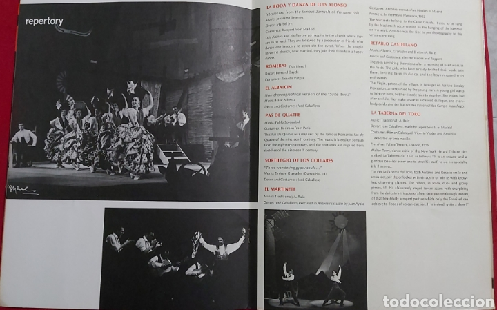 Catálogos publicitarios: SOL HUROK PRESENTS ANTONIO AND THE BALLETS DE MADRID - Foto 4 - 195337485