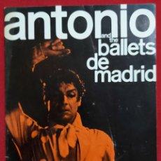 Catálogos publicitarios: SOL HUROK PRESENTS ANTONIO AND THE BALLETS DE MADRID. Lote 195337485