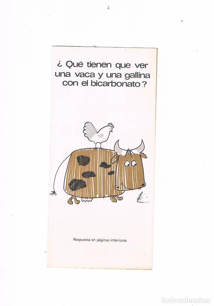 FOLLETO PUBLICIDAD EXPOQUIMIA 78 BICARBONATO SODICO (Coleccionismo - Catálogos Publicitarios)