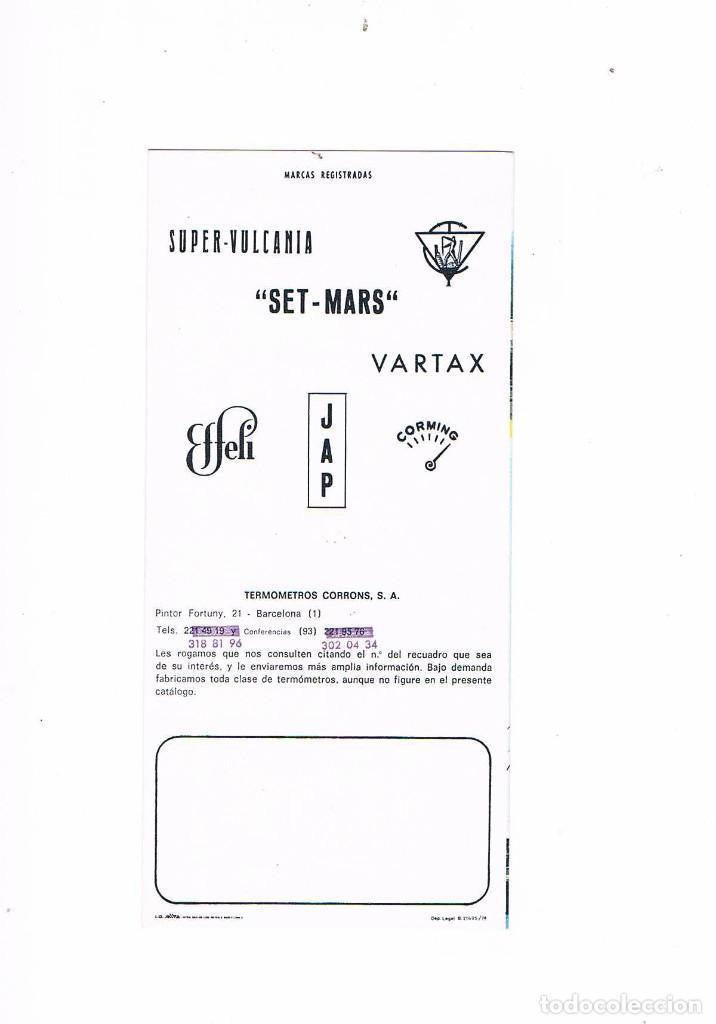 Catálogos publicitarios: FOLLETO PUBLICIDAD EXPOQUIMIA 78 TERMOMETROS CORRONS SA SUPER VULCANIA SET MARS EFFELI JAP CORMING - Foto 2 - 195367991