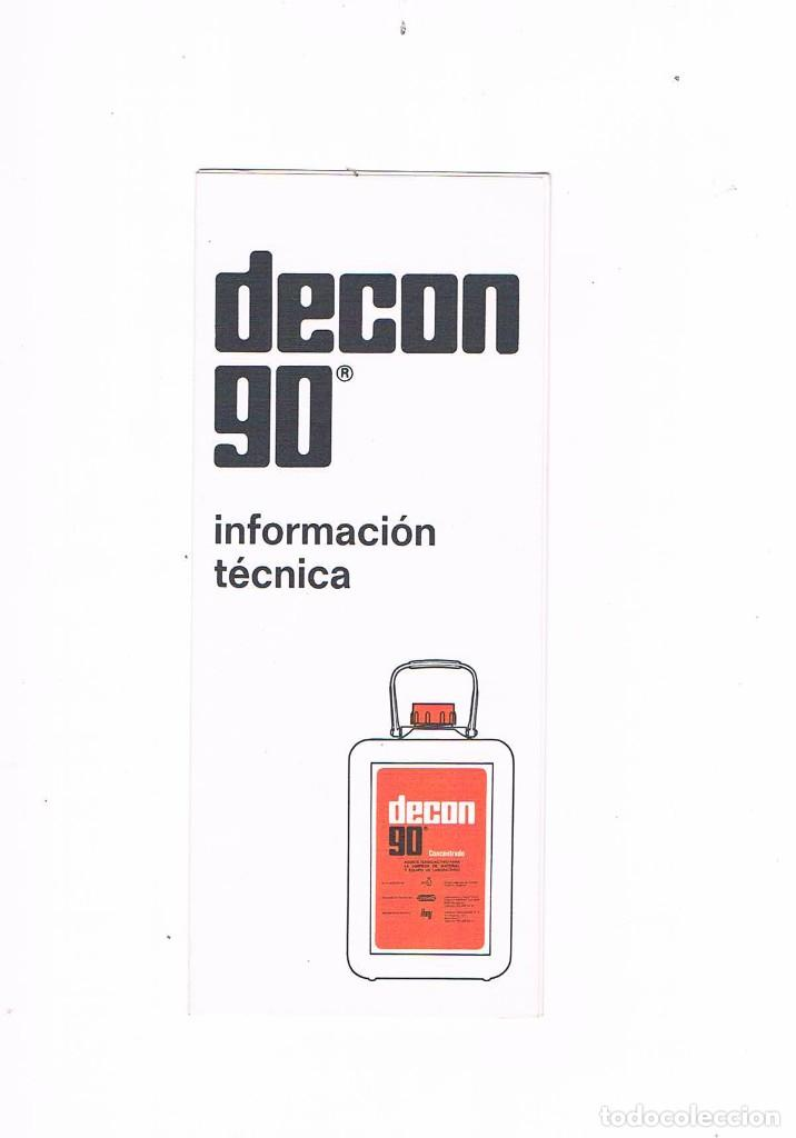 FOLLETO PUBLICIDAD EXPOQUIMIA 78 DECON 90 CONTRAD DCN90 (Coleccionismo - Catálogos Publicitarios)