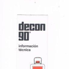 Catálogos publicitarios: FOLLETO PUBLICIDAD EXPOQUIMIA 78 DECON 90 CONTRAD DCN90. Lote 195368292