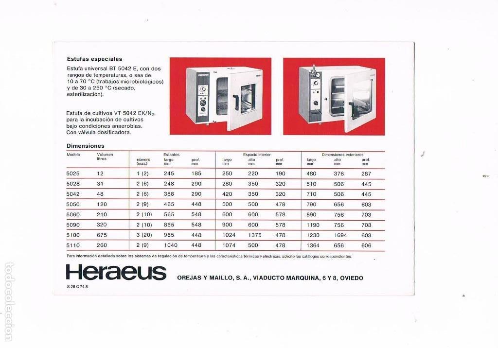 Catálogos publicitarios: FOLLETO PUBLICIDAD EXPOQUIMIA 78 HERAEUS SERIE 5000 LA NUEVA CONCEPCION DE ESTUFAS OREJAS Y MAILLO - Foto 2 - 195368507