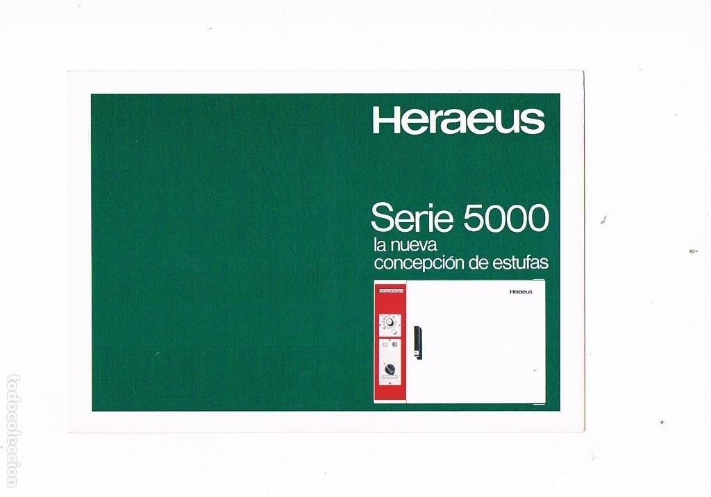 FOLLETO PUBLICIDAD EXPOQUIMIA 78 HERAEUS SERIE 5000 LA NUEVA CONCEPCION DE ESTUFAS OREJAS Y MAILLO (Coleccionismo - Catálogos Publicitarios)