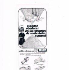 Catálogos publicitarios: FOLLETO PUBLICIDAD EXPOQUIMIA 78 ELEMENTOS JAUDT INTERNATIONAL MIGSA. Lote 195368691