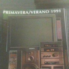 Catálogos publicitarios: CATALOGO NOVEDADES SONY 1991 225 PAG. Lote 195423363