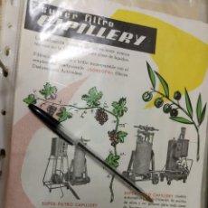 Catálogos publicitarios: SUPERFILTRO CAPILLERY BARCELONA VINO ACEITE, FLYER.. Lote 195428588