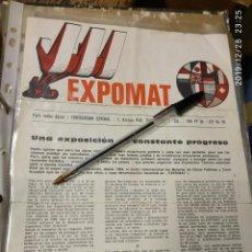 Catálogos publicitarios: EXPOMAT PARIS LE BOURGET 5º SALON INTERNACIONAL DE LA CONSTRUCCION 1966.. Lote 195429447