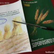 Catálogos publicitarios: SUPERFOSFATO DE CAL ABONAD EL TRIGO SAIQUI SOCIEDAD ANONIMA CROS.. Lote 195429922