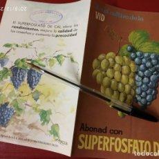Catálogos publicitarios: SUPERFOSFATO DE CAL ABONAD LA VID SAIQUI SOCIEDAD ANONIMA CROS.. Lote 195430118