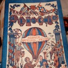 Catálogos publicitarios: CATÁLOGO FABRICA ARTICULOS DE FIESTA EL INGENIO MUY BUEN ESTADO. Lote 195435990