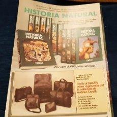 Catálogos publicitarios: FOLLETO PROMOCIONAL PLAN OBRA HISTORIA NATURAL CLUB INTERNACIONAL DEL LIBRO AÑOS 90. Lote 195436320