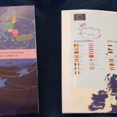 Catálogos publicitarios: FOLLETO CARTEL MAPA PLANO INFORMATIVO LA UNIÓN EUROPEA SE AMPLÍA AÑO 2001 APROX. Lote 195449232