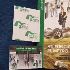 Catálogos publicitarios: FOLLETO PROMOCIONAL ASÍ FUNCIONA EL METRO DE SEVILLA . Lote 195449348