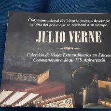 Catálogos publicitarios: FOLLETO PROMOCIONAL COLECCIÓN JULIO VERNE 175 ANIVERSARIO CLUB INTERNACIONAL LIBRO AÑOS 90. Lote 195457185