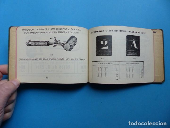 Catálogos publicitarios: SELLOS GRABADOS MARCAS - AMBROSIO ALLADO, GRABADOR - VALENCIA - AÑO 1930 - Foto 11 - 195498141