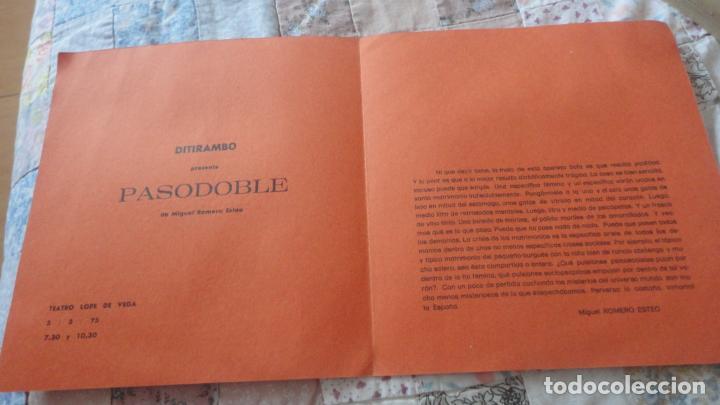 Catálogos publicitarios: ANTIGUO DIPTICO.TEATRO.DITIRAMBO.PASODOBLE MIGUEL ROMERO ESTEO.CAJA AHORROS.SEVILLA - Foto 2 - 195505010