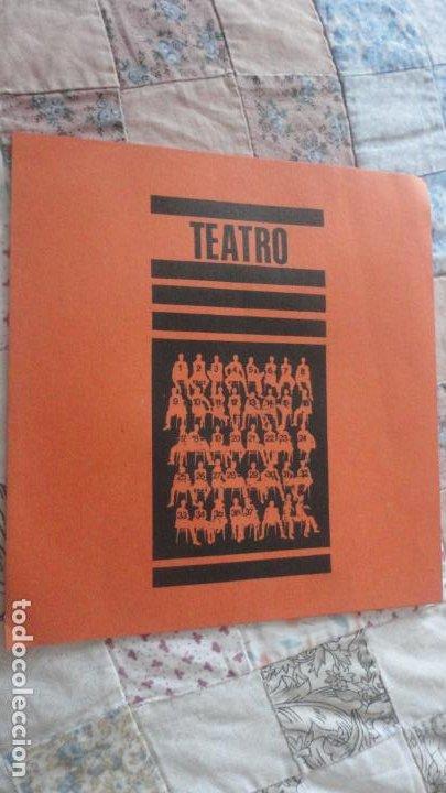 ANTIGUO DIPTICO.TEATRO.DITIRAMBO.PASODOBLE MIGUEL ROMERO ESTEO.CAJA AHORROS.SEVILLA (Coleccionismo - Catálogos Publicitarios)
