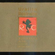 Catálogos publicitarios: BARCELONA. *URALITA ROVIRALTA & CO.* 42 PGS. MEDS: 138X215 MMS.. Lote 195566437