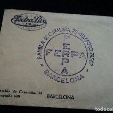 Catálogos publicitarios: ANTIGUO SOBRE DE FERPA CON SELLO DE ELECTROLUX. Lote 195703391