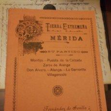 Catálogos publicitarios: TIERRA, EXTREMEÑA.MERIDA MONTIJO PUEBLA DE LA CALZADA ZARZA DE ALANGE DON ALVARO LAGARROVILLA VILLAG. Lote 196800167