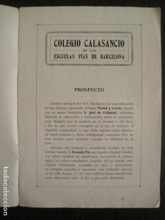 Catálogos publicitarios: CATALOGO PUBLICIDAD-BARCELONA-COLEGIO CALASANCIO DE LAS ESCUELAS PIAS-VER FOTOS-(V-19.384) - Foto 3 - 196803517