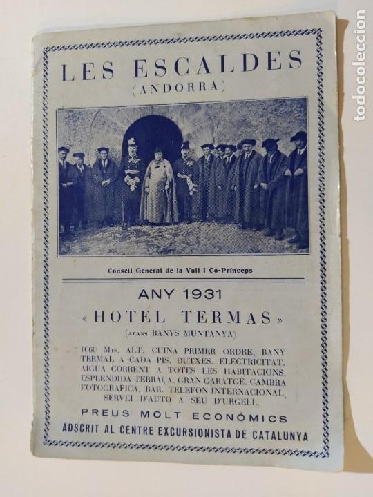 Catálogos publicitarios: ANDORRA-LES ESCALDES-HOTEL TERMAS-AÑO 1931-CATALOGO PUBLICIDAD CON FOTOGRAFIAS-VER FOTOS-(V-19.403) - Foto 3 - 196806328