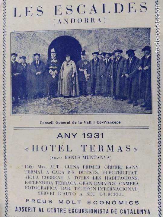 ANDORRA-LES ESCALDES-HOTEL TERMAS-AÑO 1931-CATALOGO PUBLICIDAD CON FOTOGRAFIAS-VER FOTOS-(V-19.403) (Coleccionismo - Catálogos Publicitarios)