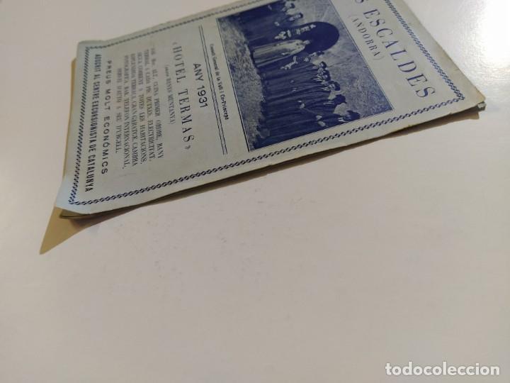 Catálogos publicitarios: ANDORRA-LES ESCALDES-HOTEL TERMAS-AÑO 1931-CATALOGO PUBLICIDAD CON FOTOGRAFIAS-VER FOTOS-(V-19.403) - Foto 4 - 196806328