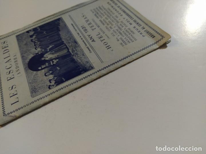 Catálogos publicitarios: ANDORRA-LES ESCALDES-HOTEL TERMAS-AÑO 1931-CATALOGO PUBLICIDAD CON FOTOGRAFIAS-VER FOTOS-(V-19.403) - Foto 6 - 196806328